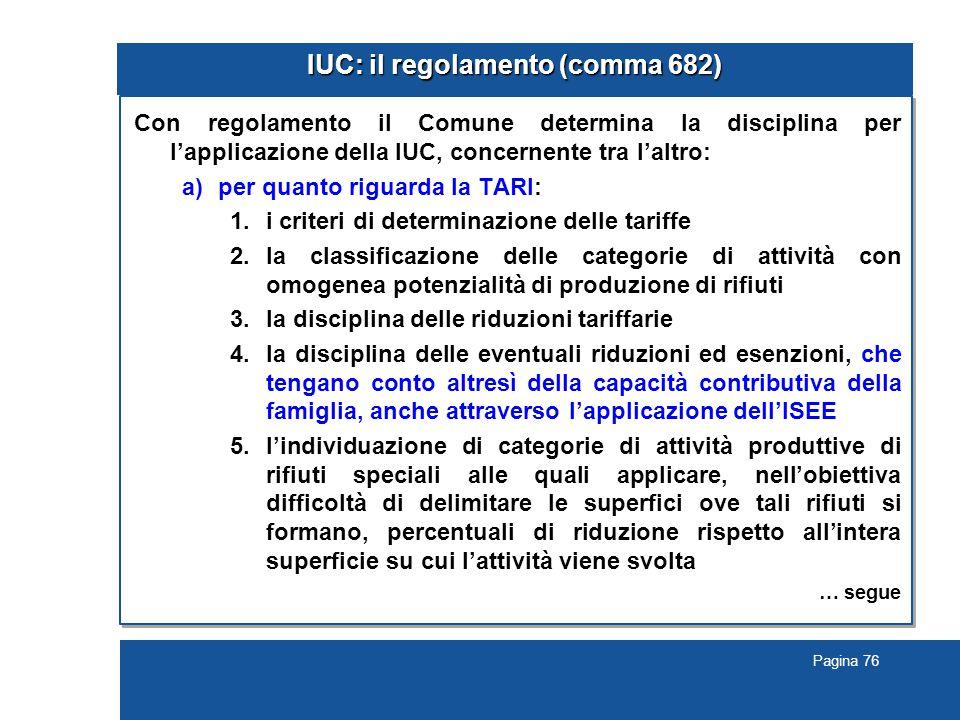 IUC: il regolamento (comma 682)