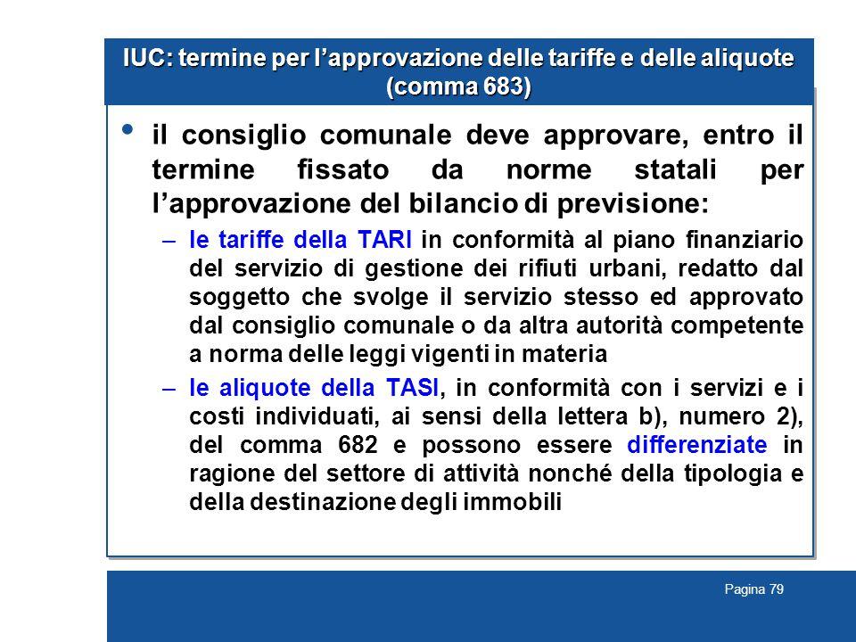 IUC: termine per l'approvazione delle tariffe e delle aliquote (comma 683)