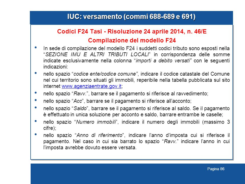 IUC: versamento (commi 688-689 e 691)