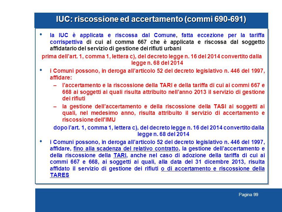 IUC: riscossione ed accertamento (commi 690-691)