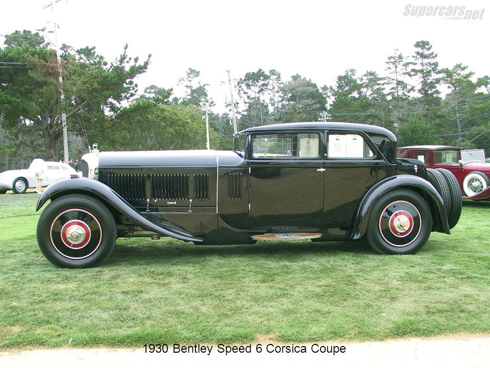 1930 Bentley Speed 6 Corsica Coupe