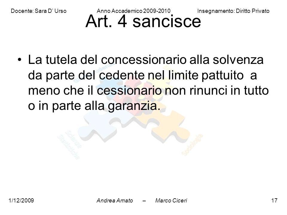 Art. 4 sancisce