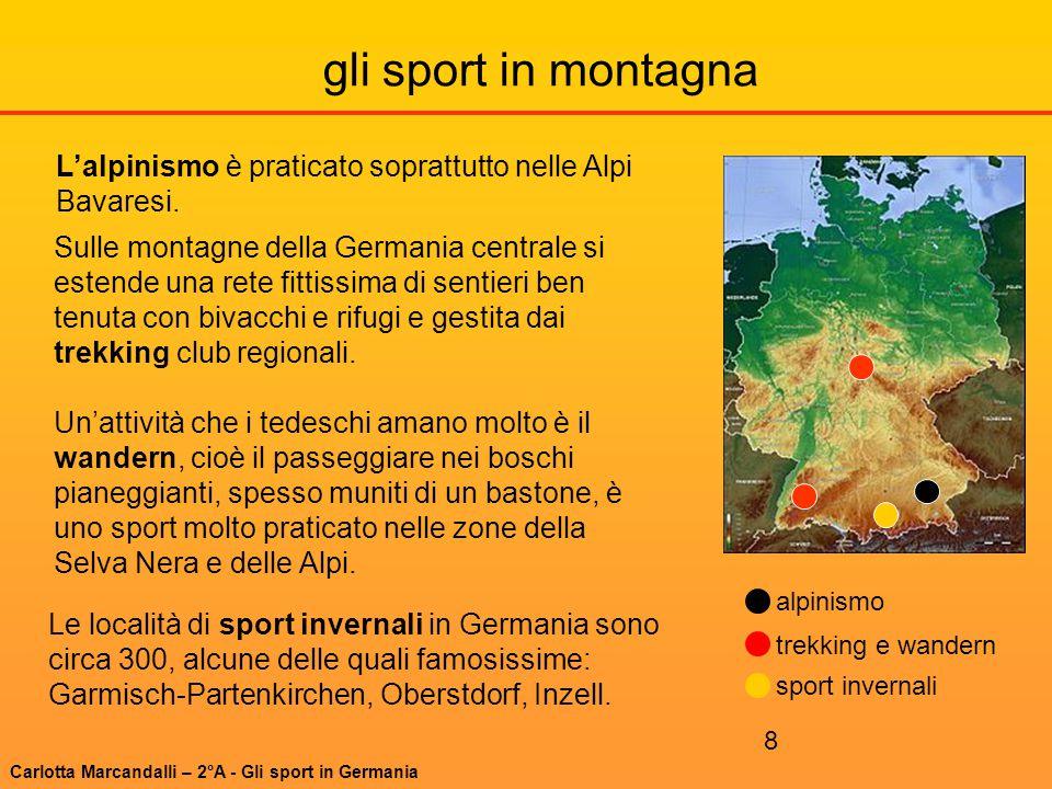 gli sport in montagna L'alpinismo è praticato soprattutto nelle Alpi Bavaresi.