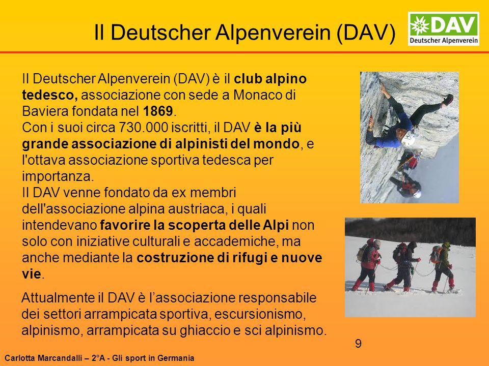 Il Deutscher Alpenverein (DAV)