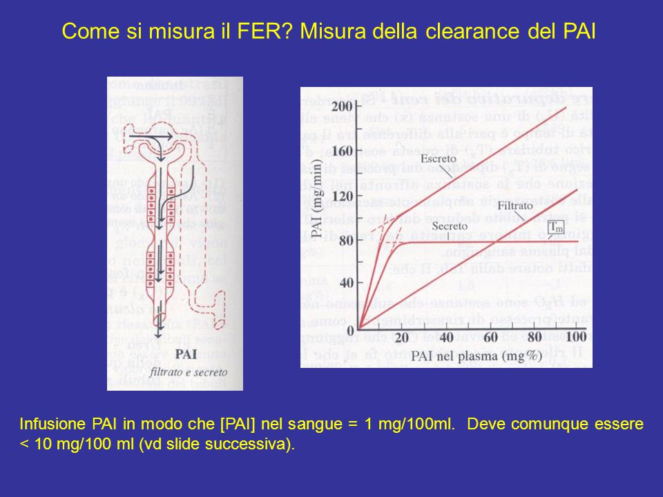 Come si misura il FER Misura della clearance del PAI