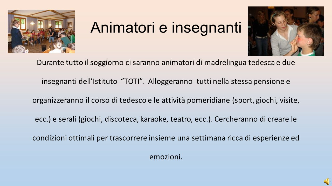 Animatori e insegnanti
