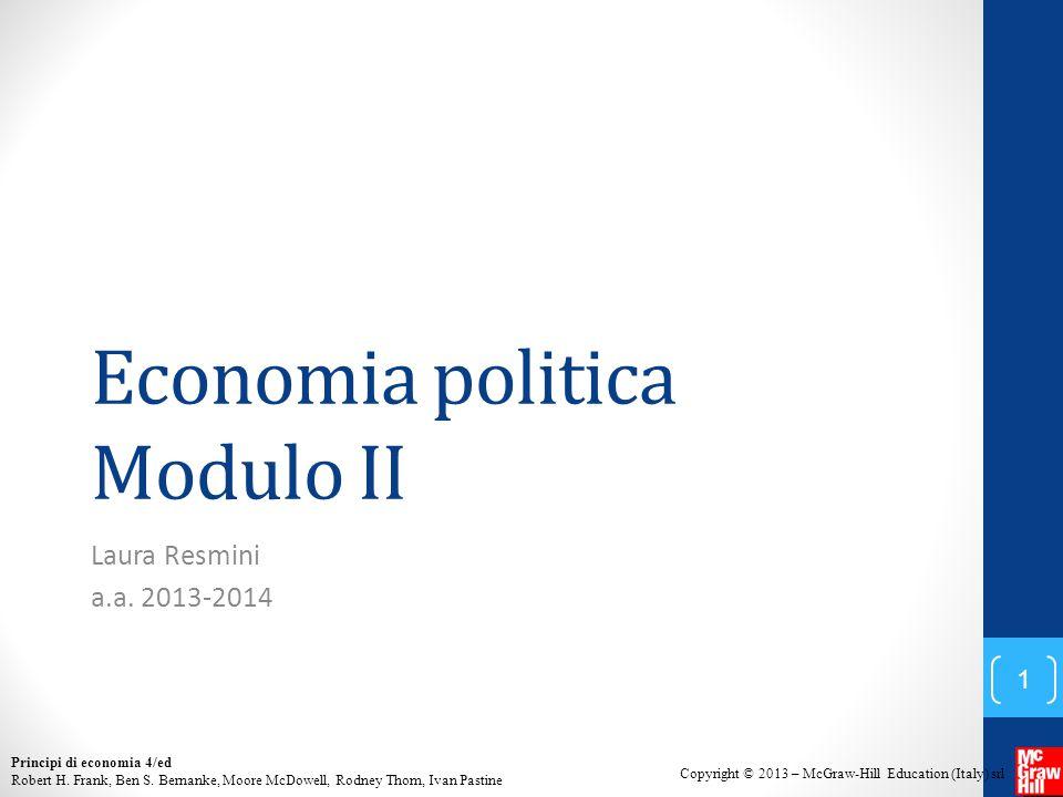 Economia politica Modulo II