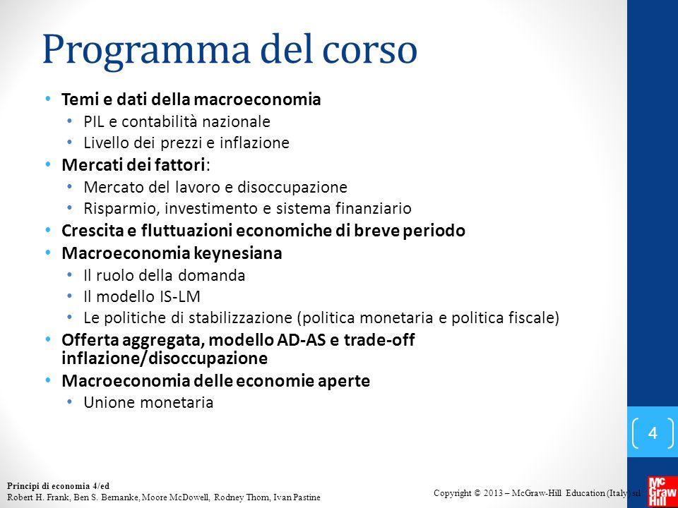 Programma del corso Temi e dati della macroeconomia