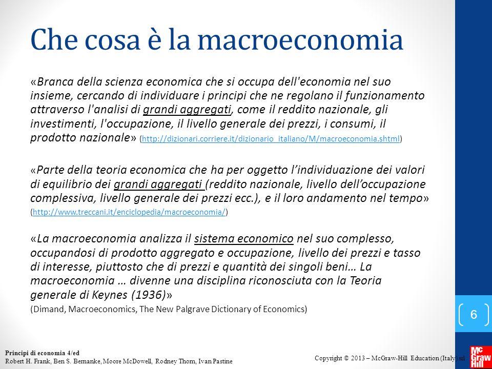 Che cosa è la macroeconomia