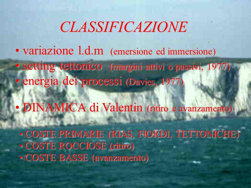 CLASSIFICAZIONE variazione l.d.m (emersione ed immersione)
