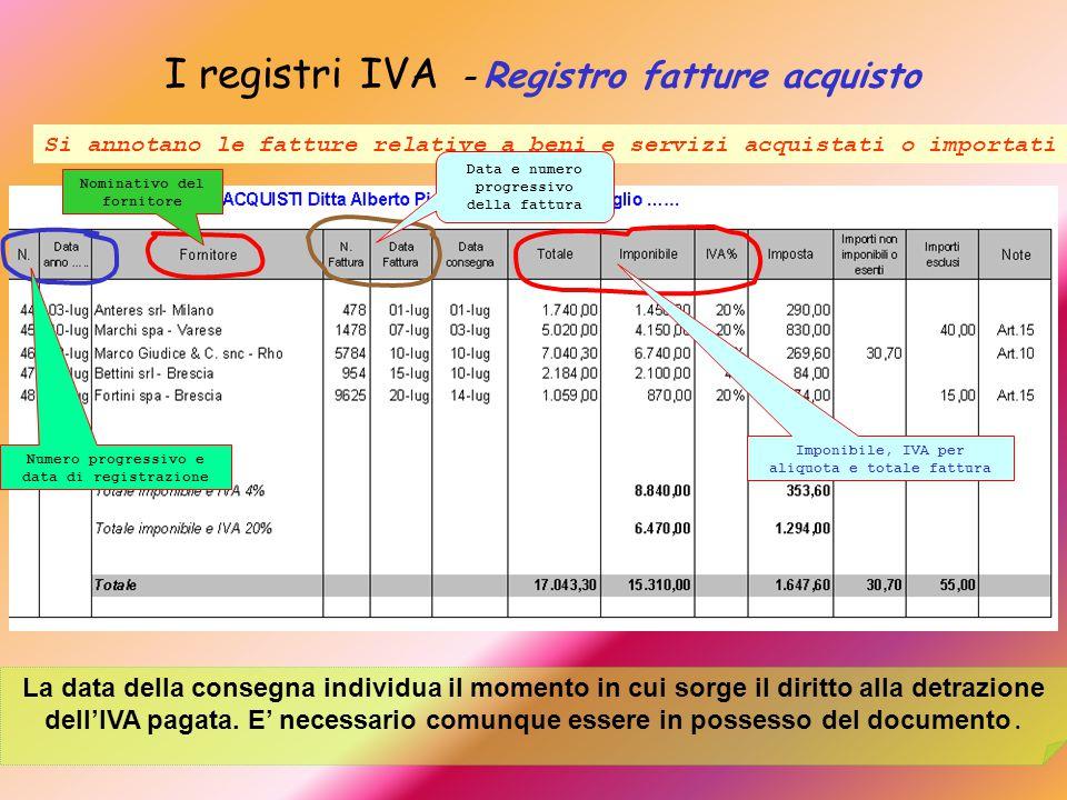 I registri IVA – Registro fatture acquisto