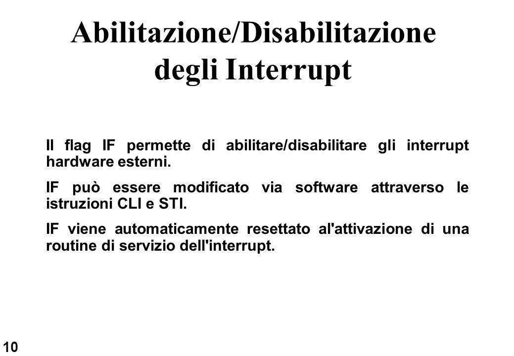 Abilitazione/Disabilitazione degli Interrupt