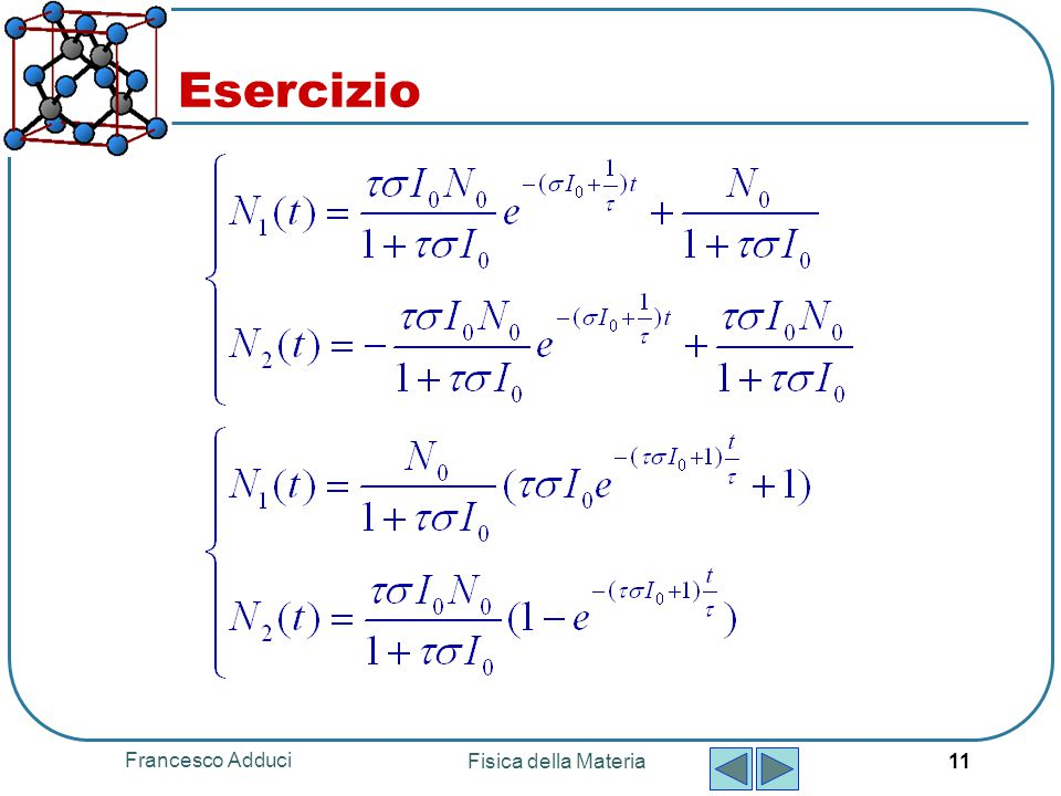Esercizio Francesco Adduci Fisica della Materia