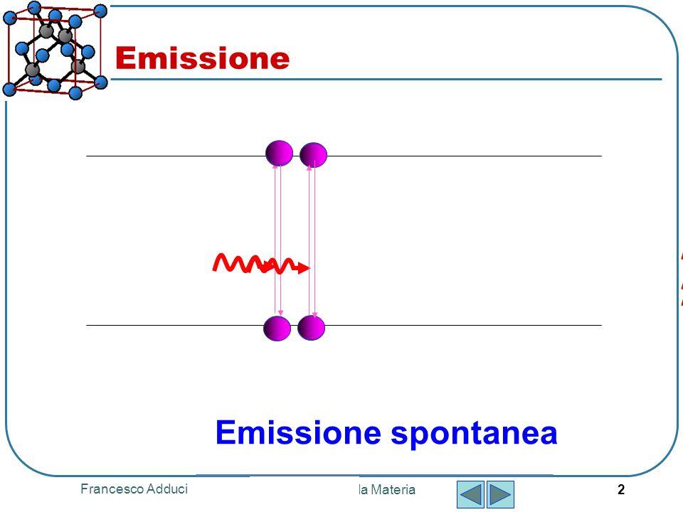 Emissione Emissione spontanea Francesco Adduci Fisica della Materia