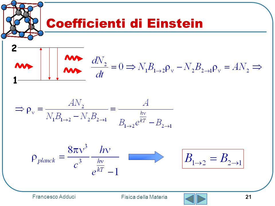 Coefficienti di Einstein