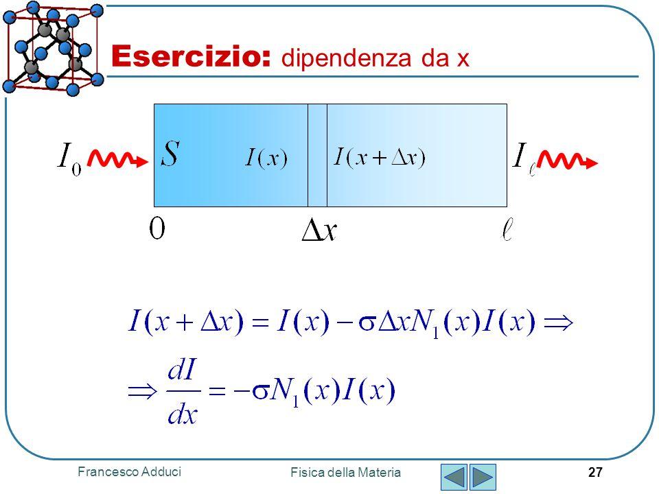 Esercizio: dipendenza da x