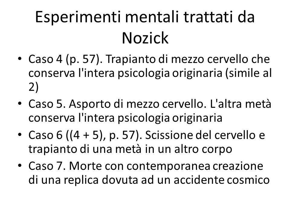 Esperimenti mentali trattati da Nozick
