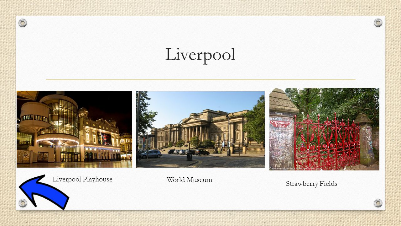 Liverpool Liverpool Playhouse World Museum Strawberry Fields