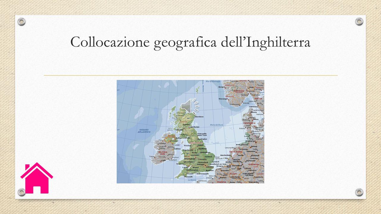 Collocazione geografica dell'Inghilterra