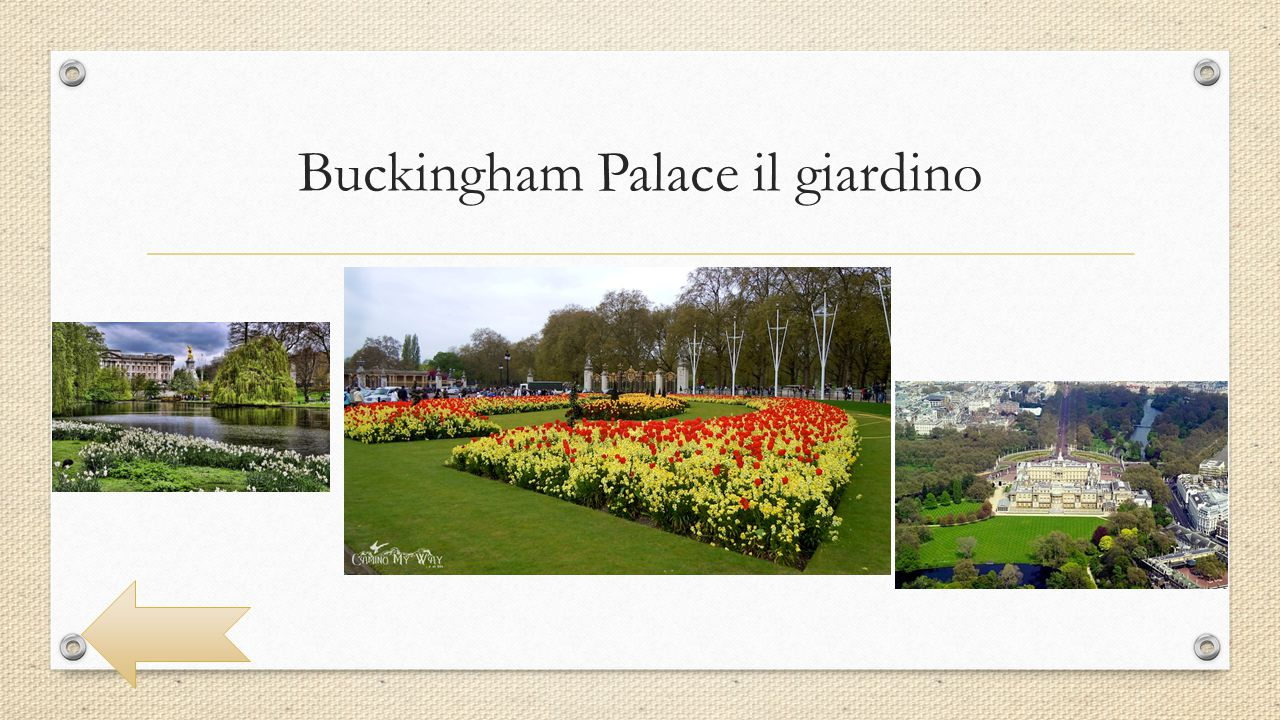 Buckingham Palace il giardino