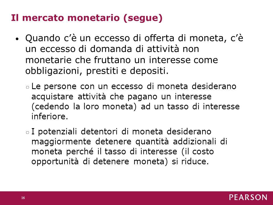 Il mercato monetario (segue)