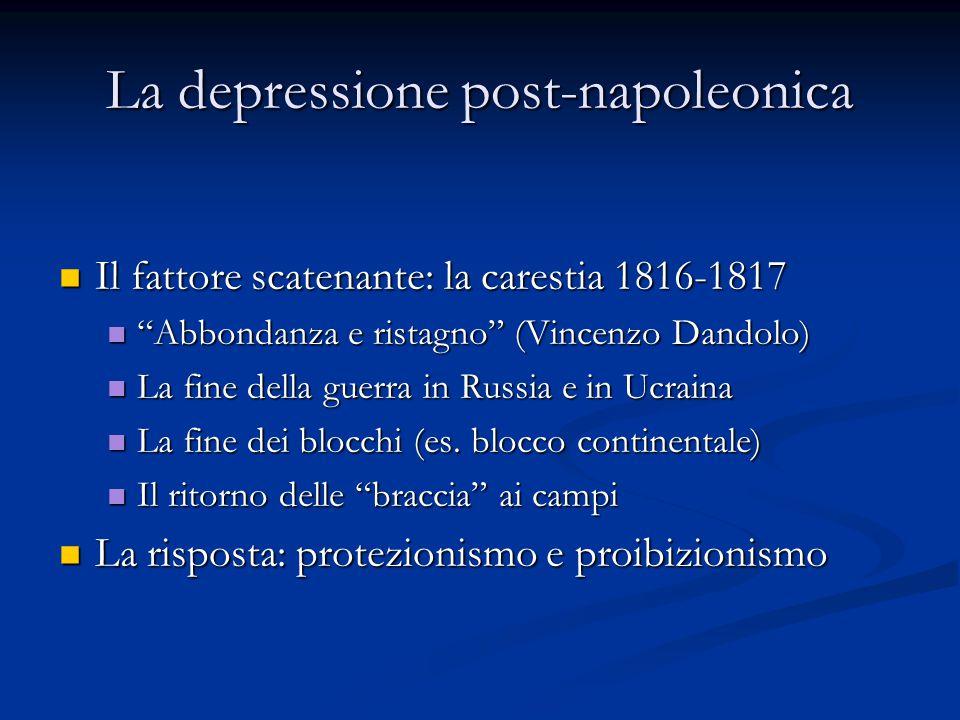 La depressione post-napoleonica