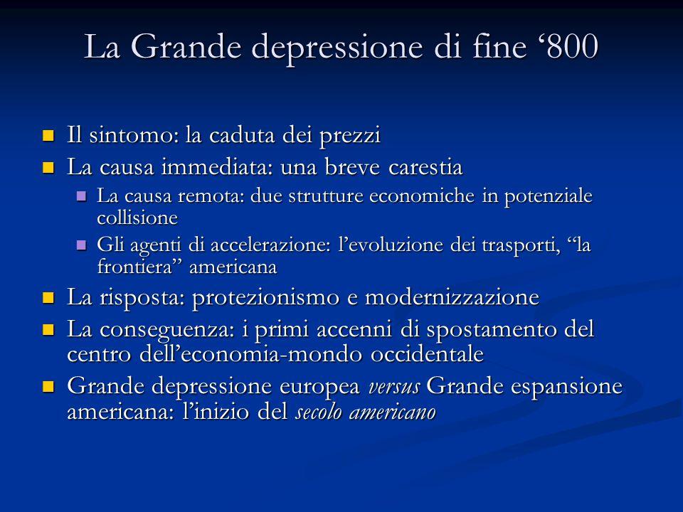 La Grande depressione di fine '800