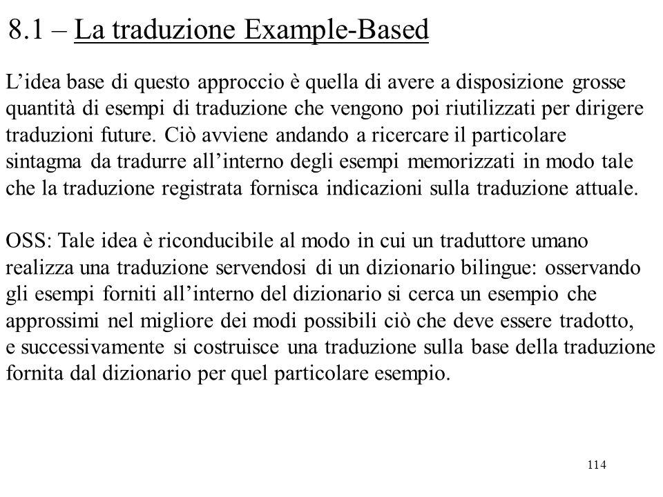 8.1 – La traduzione Example-Based