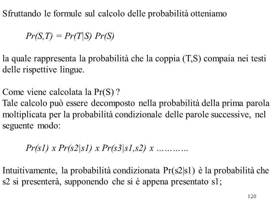 Sfruttando le formule sul calcolo delle probabilità otteniamo