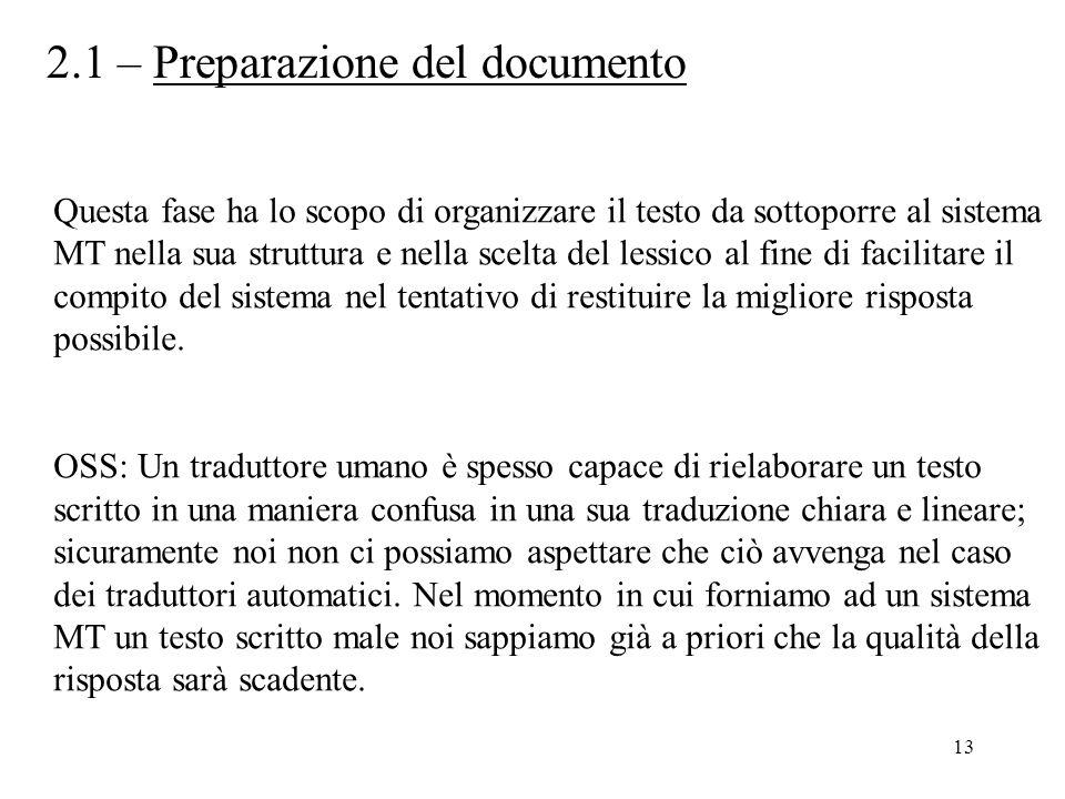 2.1 – Preparazione del documento