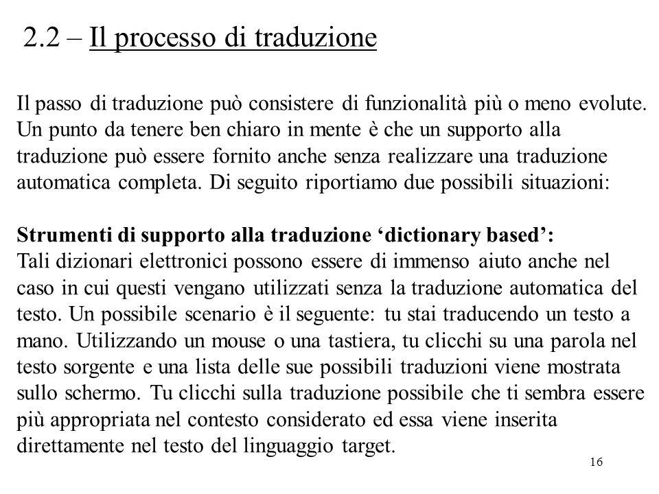 2.2 – Il processo di traduzione