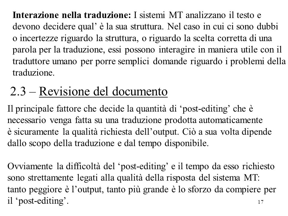 2.3 – Revisione del documento