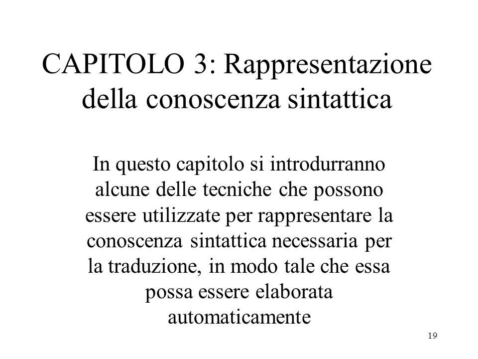 CAPITOLO 3: Rappresentazione della conoscenza sintattica