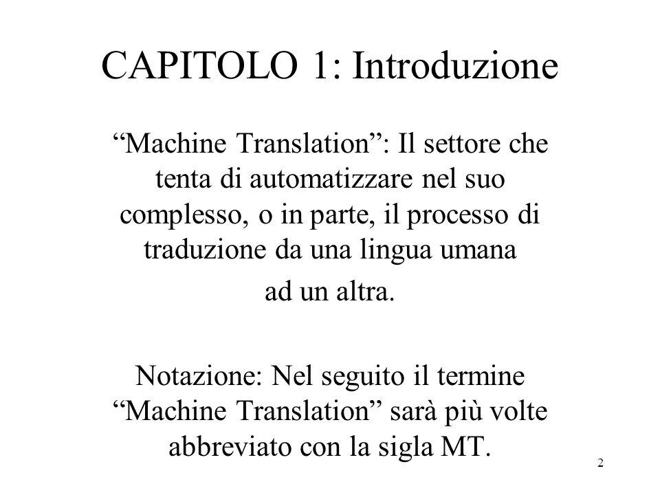 CAPITOLO 1: Introduzione