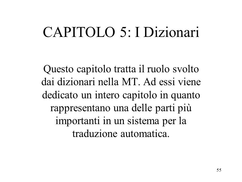 CAPITOLO 5: I Dizionari