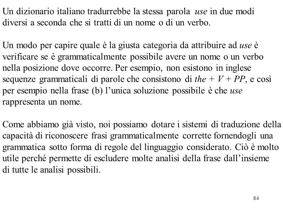 Un dizionario italiano tradurrebbe la stessa parola use in due modi