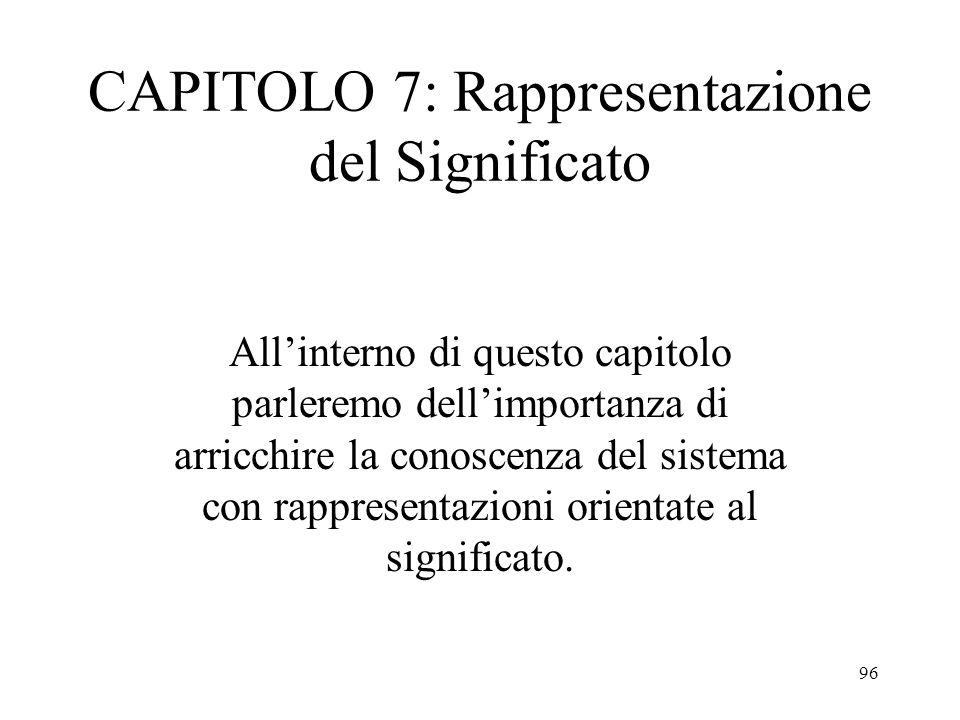 CAPITOLO 7: Rappresentazione del Significato