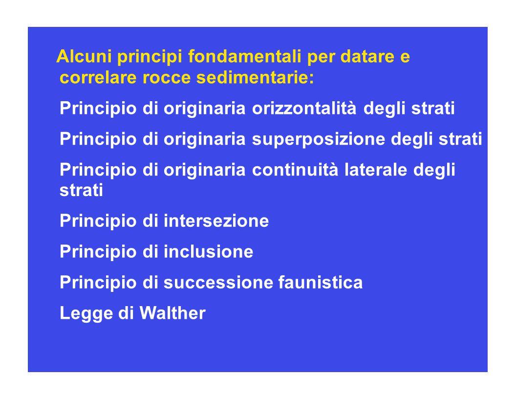 Alcuni principi fondamentali per datare e