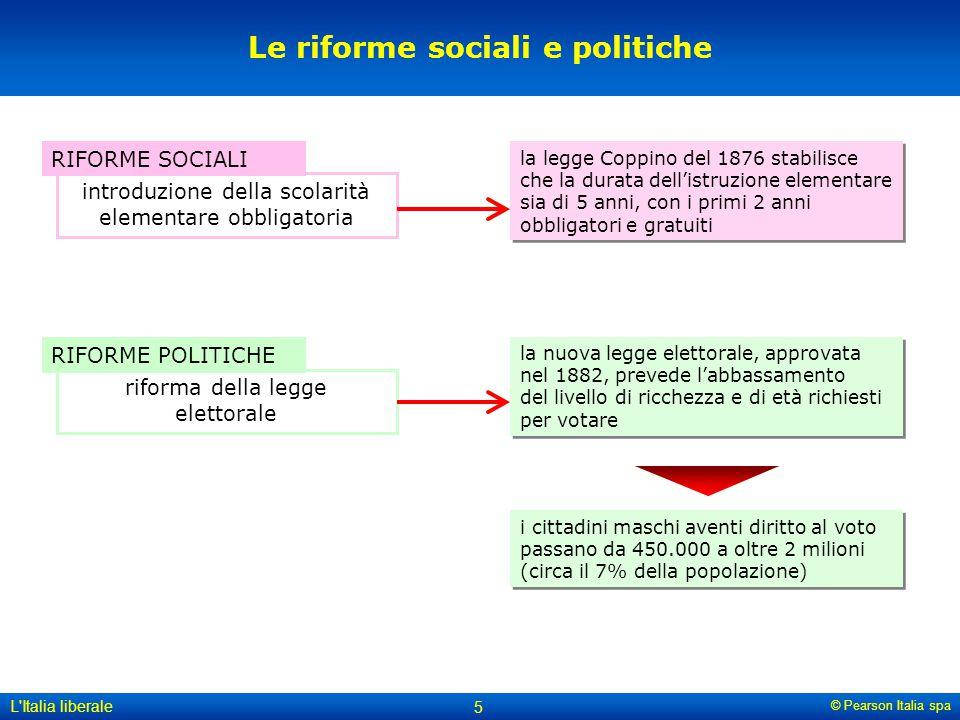 Le riforme sociali e politiche