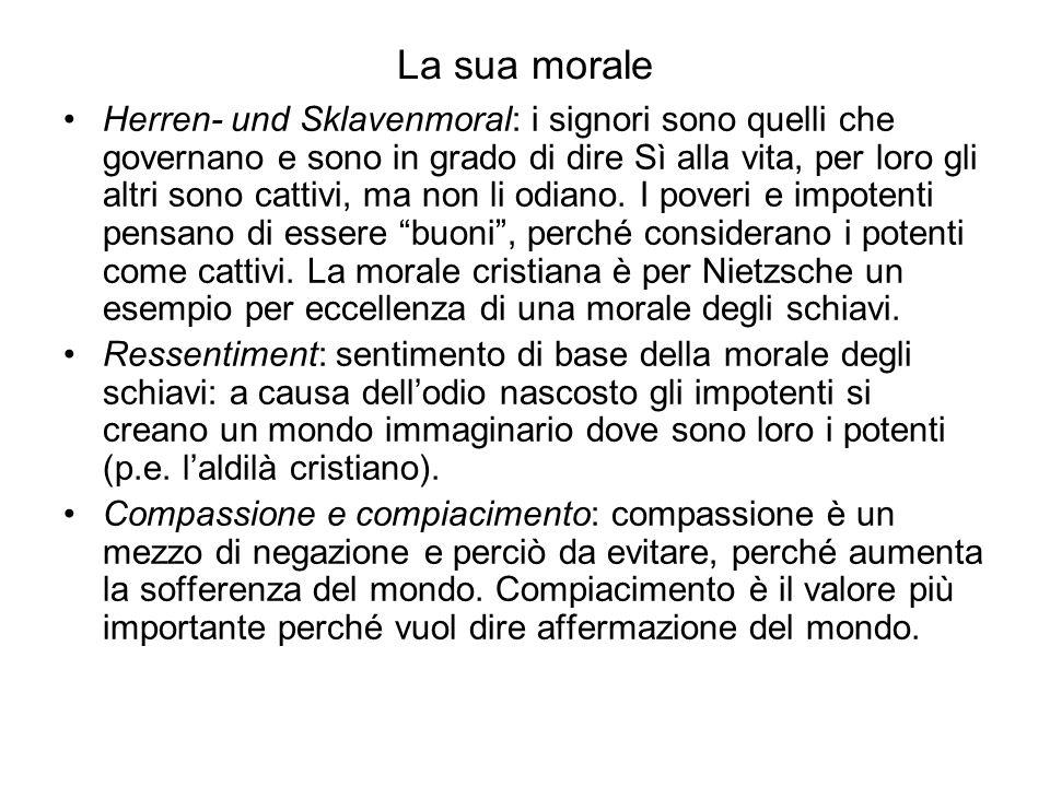 La sua morale