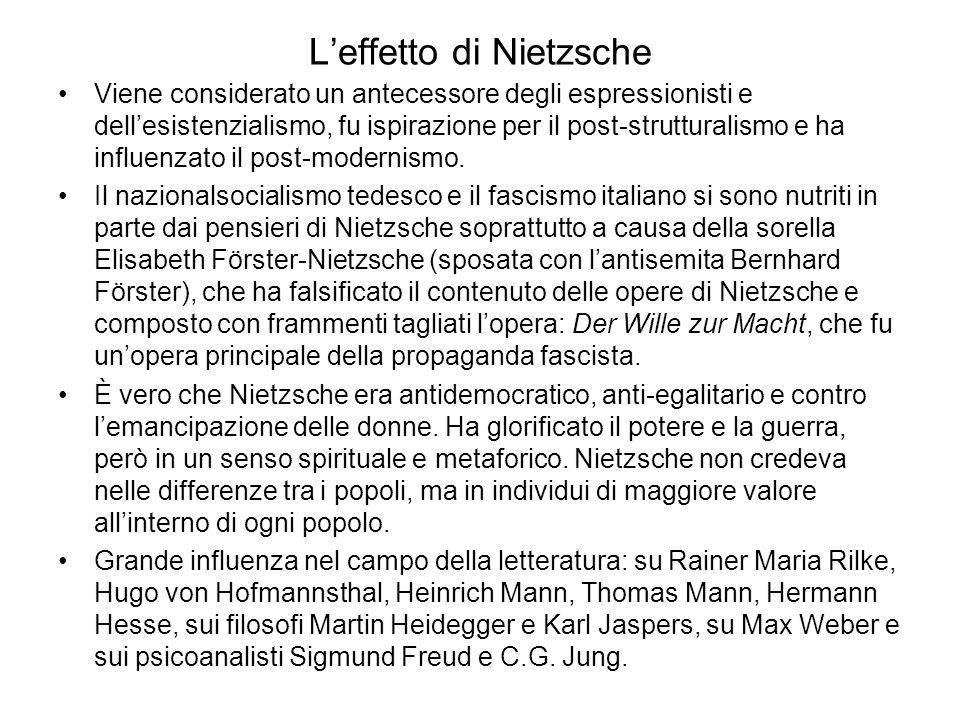 L'effetto di Nietzsche