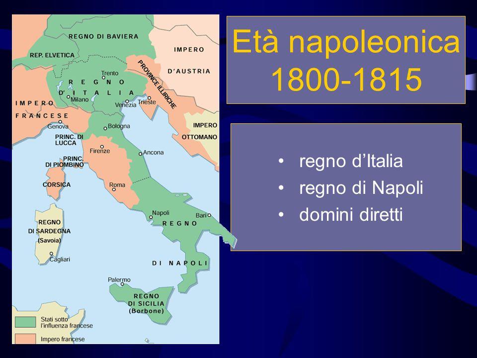 regno d'Italia regno di Napoli domini diretti