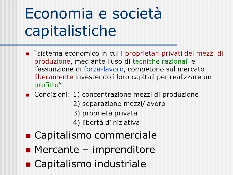 Economia e società capitalistiche
