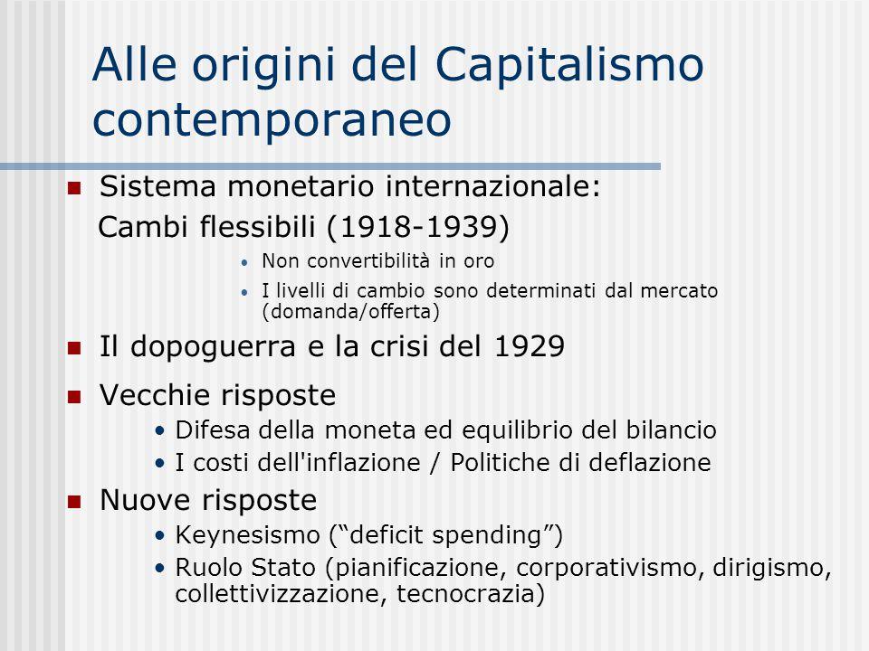 Alle origini del Capitalismo contemporaneo