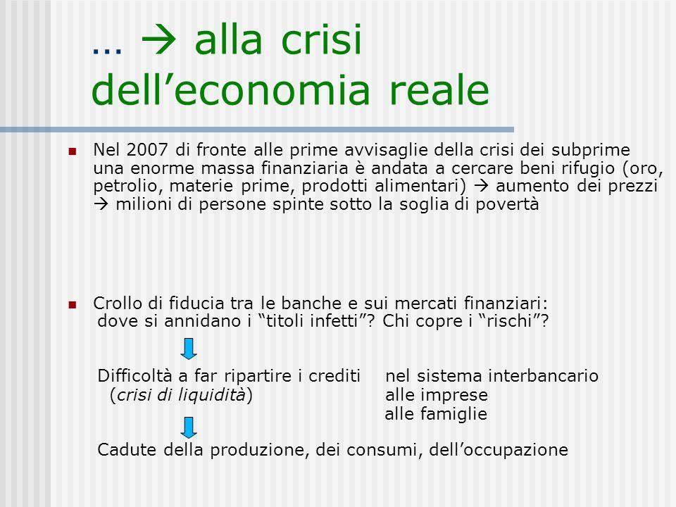 …  alla crisi dell'economia reale