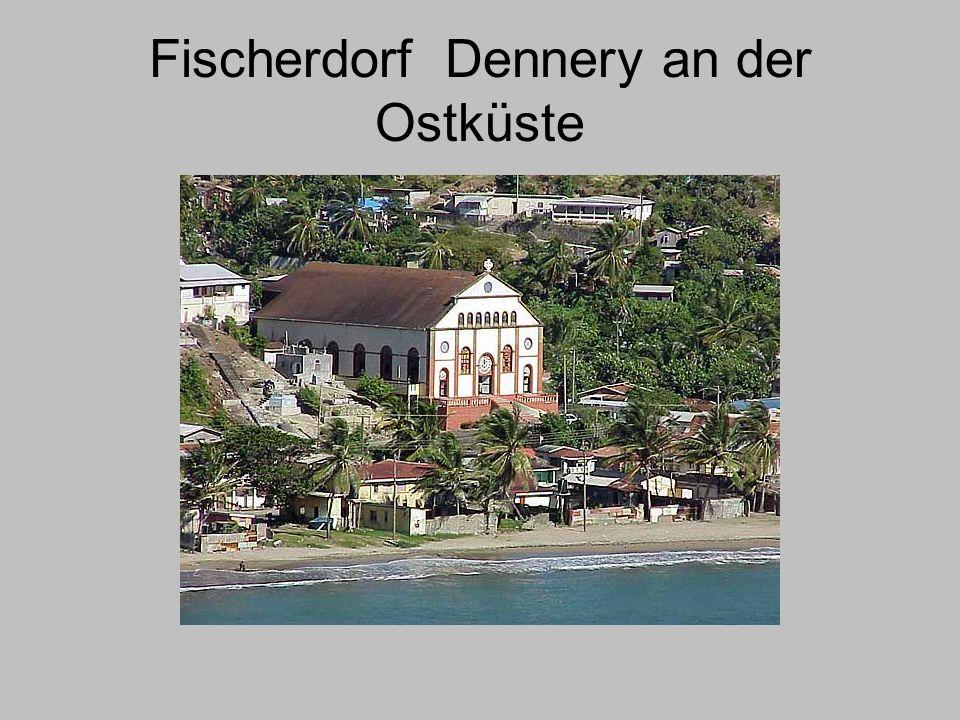 Fischerdorf Dennery an der Ostküste