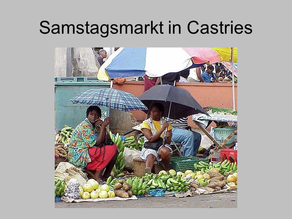 Samstagsmarkt in Castries