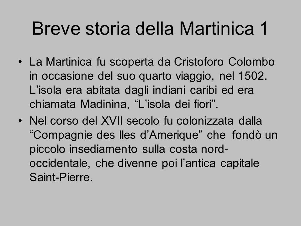 Breve storia della Martinica 1