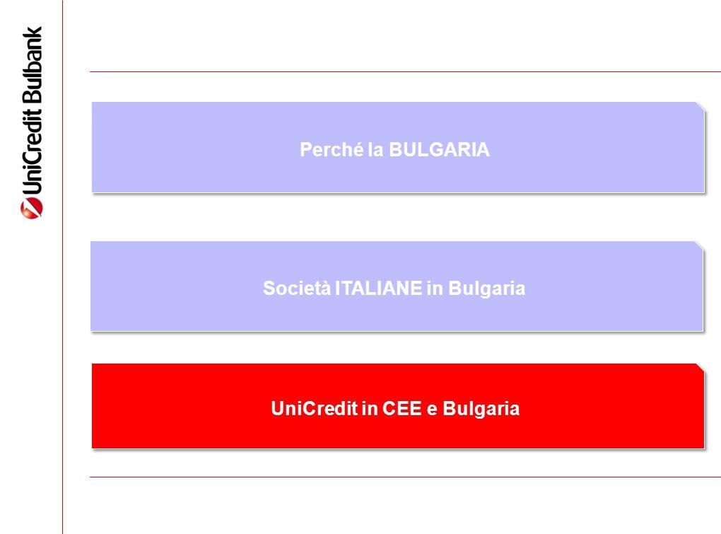 Società ITALIANE in Bulgaria UniCredit in CEE e Bulgaria