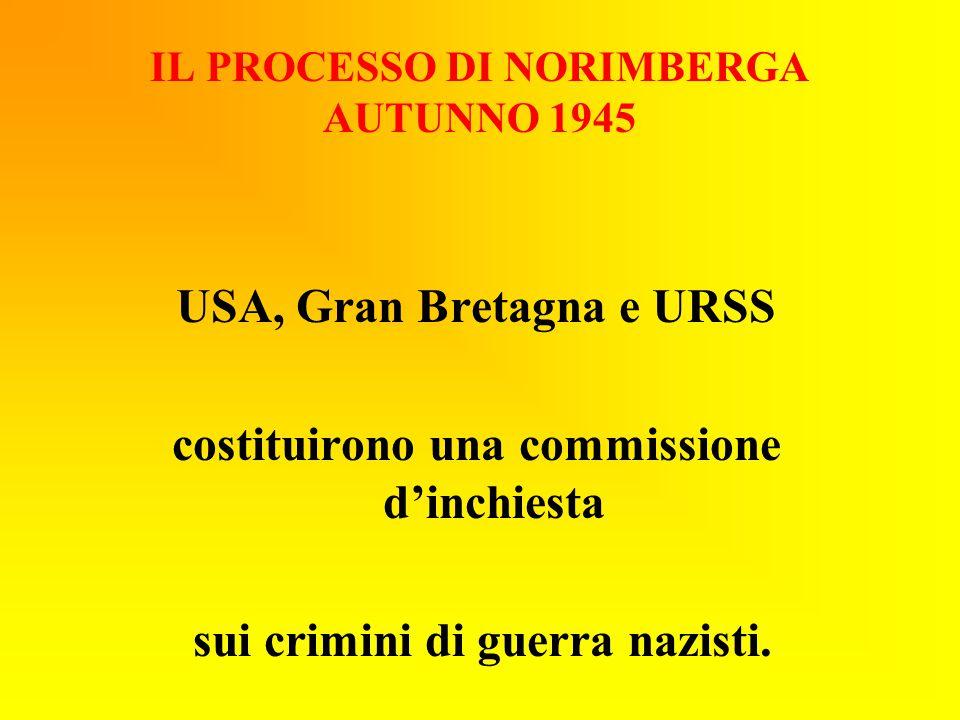 IL PROCESSO DI NORIMBERGA AUTUNNO 1945